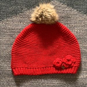 Ruby Red Knit Hat - Girls Size 10-14YR